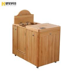 Apartamento Interior calor Sauna Barrel con puerta abierta