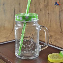 Бутылка воды с широким ртом крышку 500 мл лед холодной стеклянной бутылки для напитков