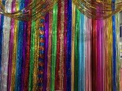 Фон Showsea сетку дождя шторки металлические Gold шторки Custom этапе фоне шторки глянцевая