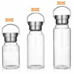 Hochwertige Maßgeschneiderte Flint Glas Wasserflaschen Tragbare Wasserflaschen Glasflaschen