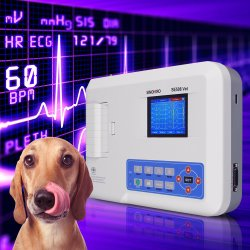 "4.3"" LCD 디스플레이 ECG 머신 시노히어 Se508 3 채널 휴대용 Vet ECG Machine Veterinary Electrocardiograph("