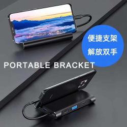 Multi stazione di aggancio del USB C del computer portatile della visualizzazione con la consegna di potere facoltativa incorporata 100W dello SSD 256GB