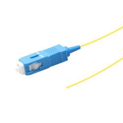 0,9 mm G657A1 de fibra óptica de Sm Sx Pigtail 1M Sc Pigtail fibra monomodo Sc/UPC en forma de espiral
