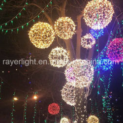 축제 Xmas 상품이 옥외 훈장 LED 크리스마스 공에 의하여 점화한다