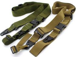 Cinghie della pistola di caccia di Airsoft Paintball dell'ammortizzatore ausiliario dell'imbracatura del fucile dei 3 punti