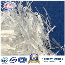 Materiales de cemento reforzado de fibra de poliéster Fibra de Pet Picado de asfalto