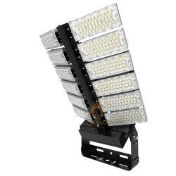 زاوية قابلة للدوران، مقاومة للماء IP66، 1200 واط، آلة LED عالية السارية، آلة تثبيت للضوء العالي للاستاد في ساحة خارجية، إضاءة مستودع المطار