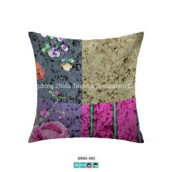 Startseite Bettwäsche Mode Stitching Digitaldruck Samt Gepolsterte Couch Kissen