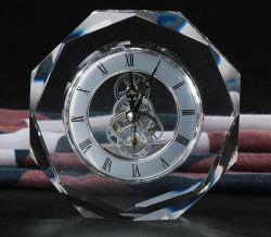 China Pujiang fábrica K9 relógio de mesa de cristal de Turismo Cristal