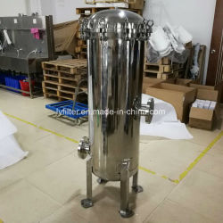 ISO 9001 제조업체 Industrial Water Filter Multi-Cartridge Housing Stainless Steel Tank