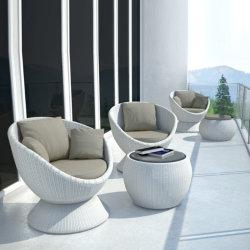 Muebles de Jardín Sofá mimbre Rattan giratorio