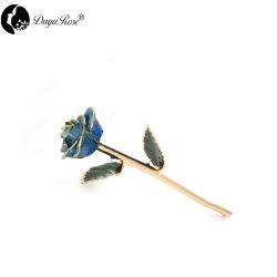 صفير زرقاء [24ك] رصّع نوع ذهب (زهرات)