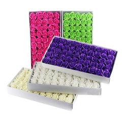 Sabão de flores Rosas, Caixa de oferta 50 PCS 50 Peças Sabões Rose Flower / Caixa de oferta Caixa de flores de sabão com pétalas de rosa 2020 subiu para decoração de casamento