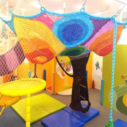 Kind-kletternder Baum-Regenbogen-kletternder Seil-Sport-Innennettobereich