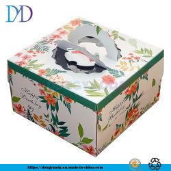 """Custom оптовой квадратный картон торт """"документ с помощью рукоятки и окна"""