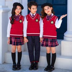 Barata de China la escuela vestir la camiseta de manga larga y visten uniformes escolares ropa con diseño personalizado