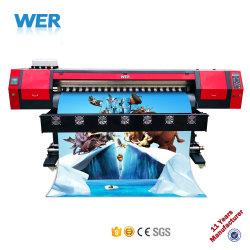 Preiswerte Qualität des Preis-1.8m und im Freien InnenDx7 Eco zahlungsfähiger Drucker der hohen Auflösung-für Segeltuch, Belüftung-Fahne, Vinyl