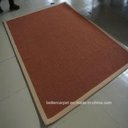 El sisal natural tejido de alfombras de rollo de respaldo de látex