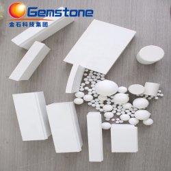 La alúmina de alta resistencia al desgaste revestimiento de cerámica de alúmina de placas de revestimiento de la Junta de camisas de molino de bolas (92% 95% de Al2O3).
