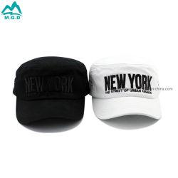 المصنع الأصلي للمعدة (OEM) الجملة والسواد الأسود المسطح القبعات المخصصة قبعة بيريت جين هات جين أغطية البيسبول