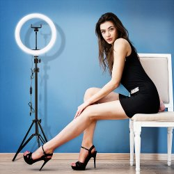 "10 "" indicatore luminoso dell'anello della videocamera LED Selfie di Dimmable dello studio di fotographia dell'indicatore luminoso dell'anello del LED Selfie per video trucco di radiodiffusione"