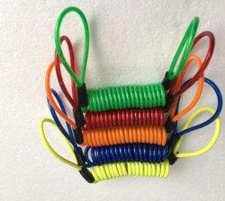 120cm de la alarma de seguridad de bloqueo de disco Anti ladrón Moto Moto Accesorios de frenos de disco de la rueda de Bolsa y el cable de la primavera de recordatorio
