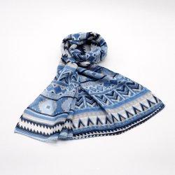 Heiße Verkaufs-Geometrie gedruckter Polyester gesponnener Schal für Damen
