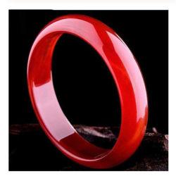 Vermelho naturais Bracelete Ágata Visão Fêmea Vermelho de textura Medula Jade Ampla Bracelete Fino Spongebob Cristal Vermelho Jóias Dom