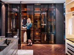 Cristal moderno Multifunctionale Puerta batiente armario ropero