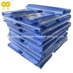 투명한 파란 똑바른 물개 PVC 수축 부대