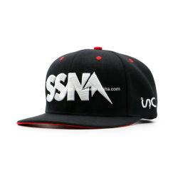 حمران و أسود حرف 3D مطرزات ثنائية اللون مخصص قبعة البيسبول