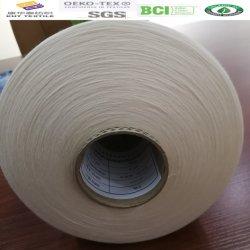 Ne100s/1 Gekamd Garen 100% Katoenen Pima Ruwe Witte Hoogste Kwaliteit
