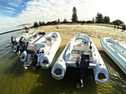 Liya Yacht Entertainment 12,5 pies FRP inflable Barco Barco de la Costilla de fibra de vidrio