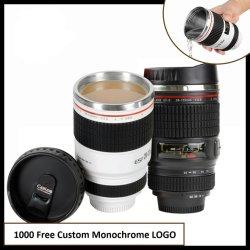 Tazza obiettivo per fotocamera di terza generazione Creative Thermos in acciaio inox vuoto Matraccio