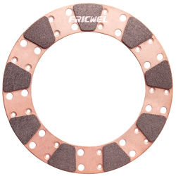 Fricwel 자동차 부속 마찰 패드 디스크에 의하여 소결되는 구리 마찰 패드 Miba 클러치 단추 ISO/Ts16949 증명서 9875-3를 경주하는 구리 경주 디스크 클러치