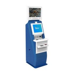 버스 phan_may 청구서 발송 단말기를 인쇄하는 이중 접촉 스크린 전시 ATM 가격 복권