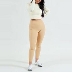Material de nylon OEM de cintura alta polainas de ejercicios de Yoga para mujeres