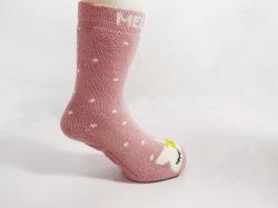 Medias de moda bebé gruesas medias de algodón suave costilla diseño divertido Terry calcetines con antideslizante