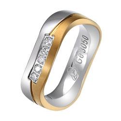 OEM/ODM de Juwelen van de Fabriek van de Ring van het metaal bellen de Reeks van de Verlovingsring van het Huwelijk