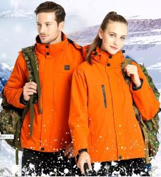 人および女性のスキージャケットの屋外の防水冬の熱くする衣服