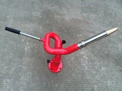 Manual de acero inoxidable de la lucha contra incendios el fuego de agua Manual Monitor con boquilla de niebla y el control de la lanza