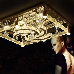 シャンデリアPendent軽い水晶ランプの金のシャンデリアの天井