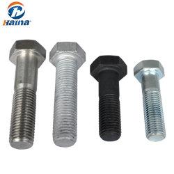 Gebildet in China-Edelstahl SS304 /316 verzinktem /Hot BAD galvanisierten 4.8/5.8 Gewinde-Schrauben-/Hex-Schrauben /6.8-/8.8 und Nuts /Hex-Schraube u. Mutter/(DIN933 UND DIN934)