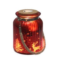 最新の様式のステッカーの装飾の卸売のための多彩なガラス蝋燭ホールダーの風防付きランプ