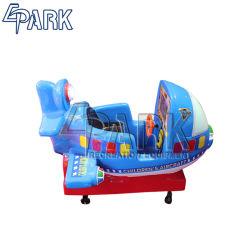 Toys の青い平面モデルの赤ん坊の振動シート子供の乗車 販売のための回転させられた子供の振動車機械