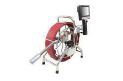 7pulgadas cámaras portátiles para la inspección de tuberías con nivelación automática de 40mm