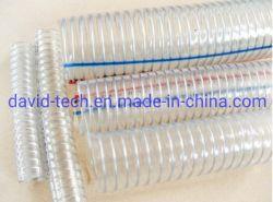 PVC transparente de poliéster reforçado com fibra Layflat expansível GPL gás de ar de fornecimento de óleo da água da mangueira do tubo do Tubo de Sucção