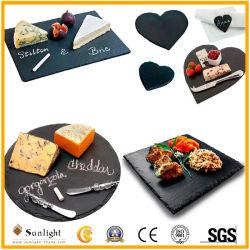 내추럴 블랙 슬레이트 스톤 치즈 보드, 석식용 접시, 테이블웨어를 위한 스시 접시