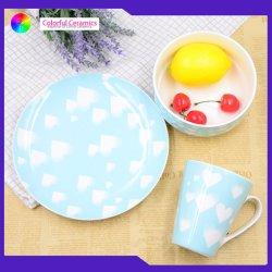 Les enfants de l'Ouest Dinnerset Bone China vaisselle bol de soupe de plaque personnalisés ensembles des tasses à café
