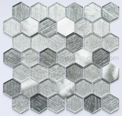 Beste Qualitätsregelmäßige Mosaik-Hexagon-Form-Kristallglas-Fliese